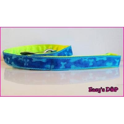 Lijn blauw camouflage neon geel