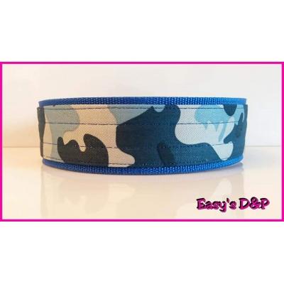 Camouflage blauw 5 cm breed hb