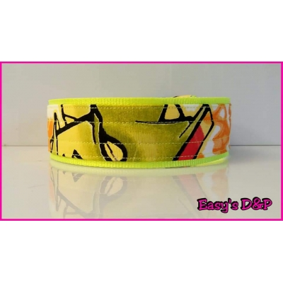 Graffiti neon geel 5 cm hb