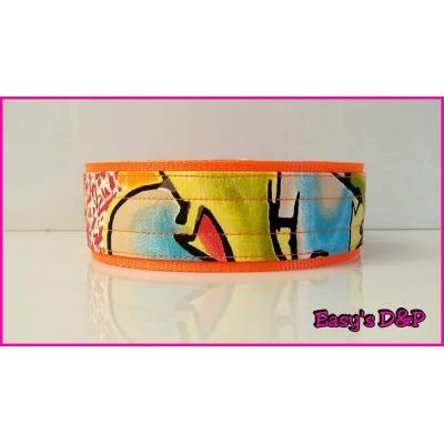 Graffiti neon oranje 5 cm hb