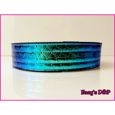 Donker blauw turquoise glimmend 4 cm hb