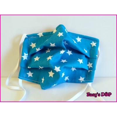 Mondkapje sterren licht blauw