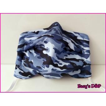 Mondkapje camouflage blauw elastisch