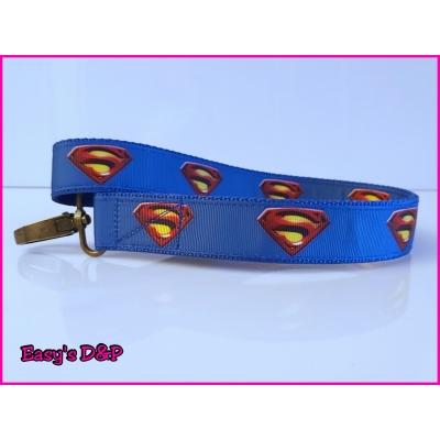 Sleutelhanger superman blauw