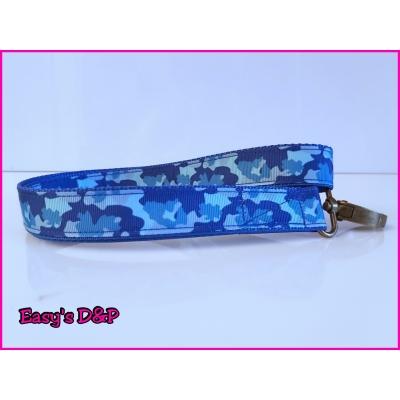 Sleutelhanger camouflage blauw lint