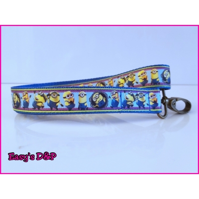 Sleutelhanger minions blauw